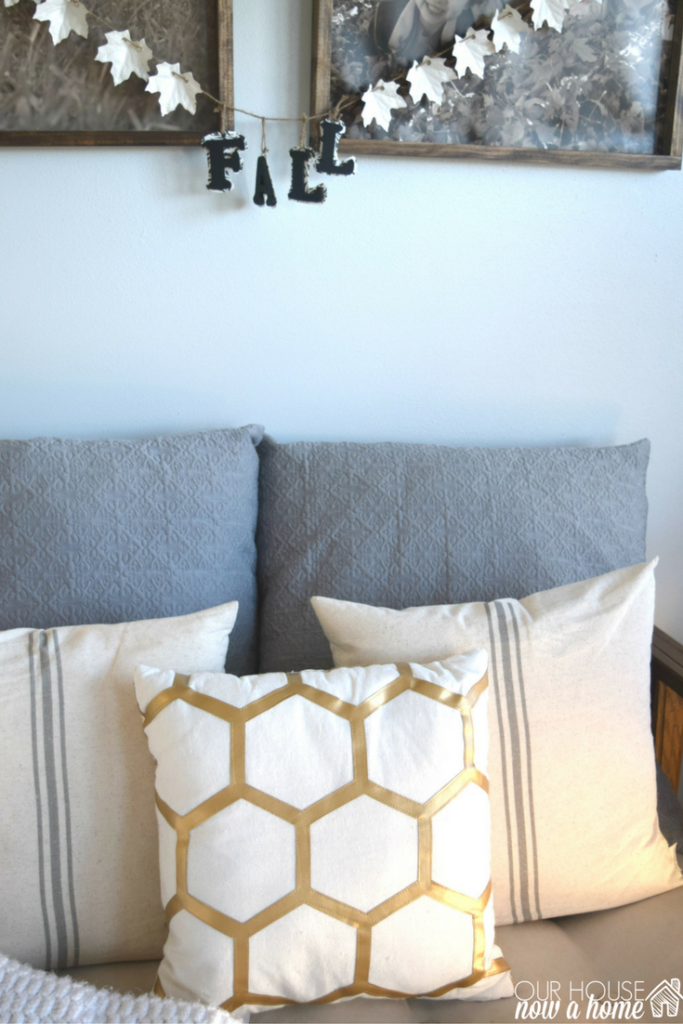 Oversized Decorative Pillow Ideas : Simple fall decor ideas Our House Now a Home