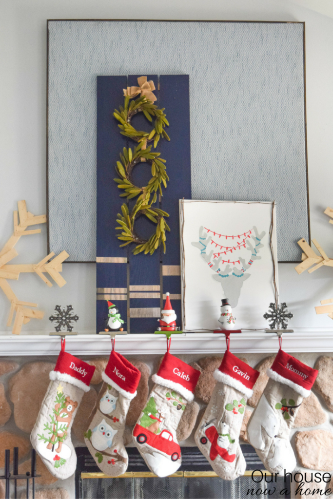 pottery-barn-christmas-stockings-on-mantel