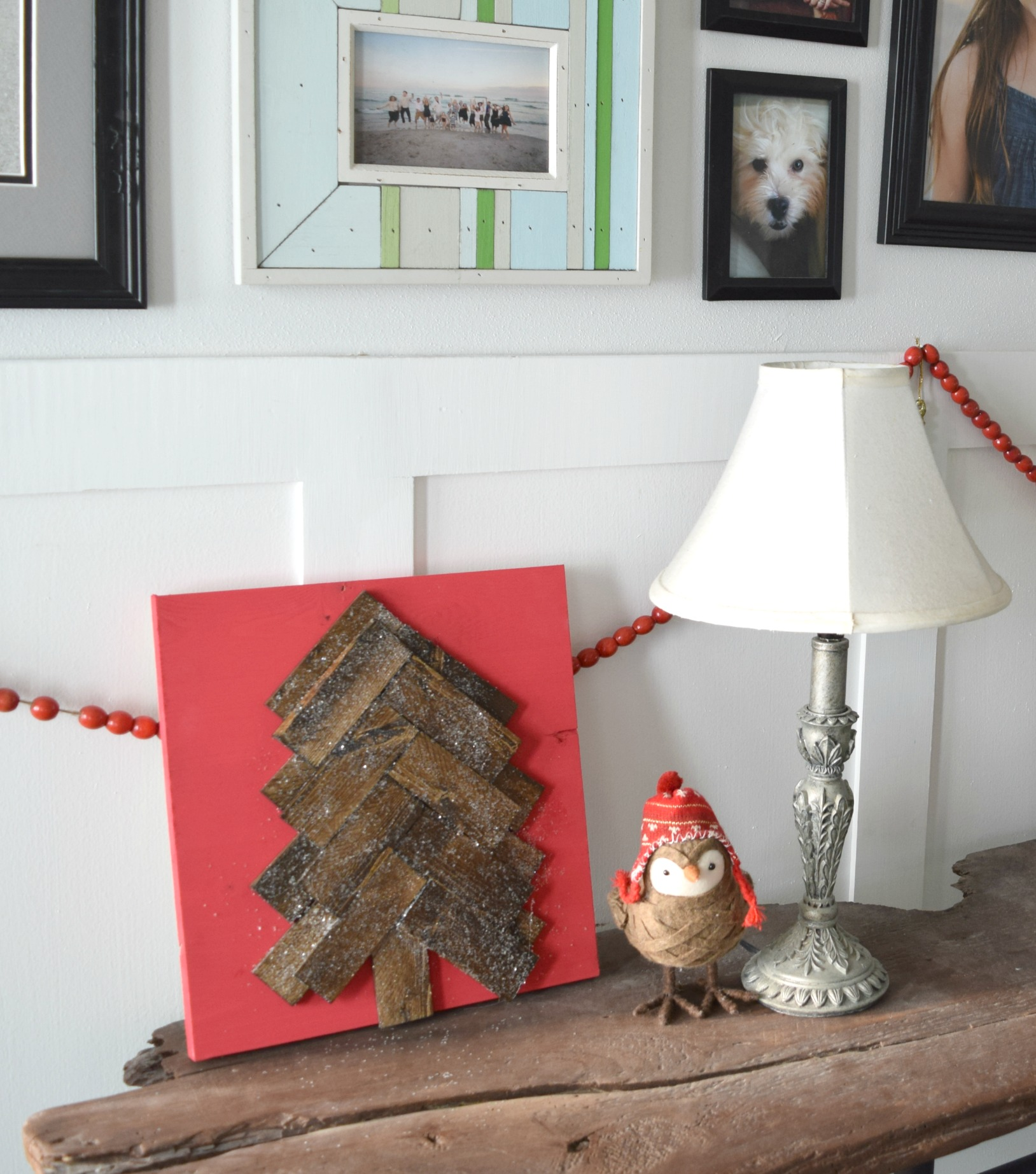 Christmas tree craft using scrap wood