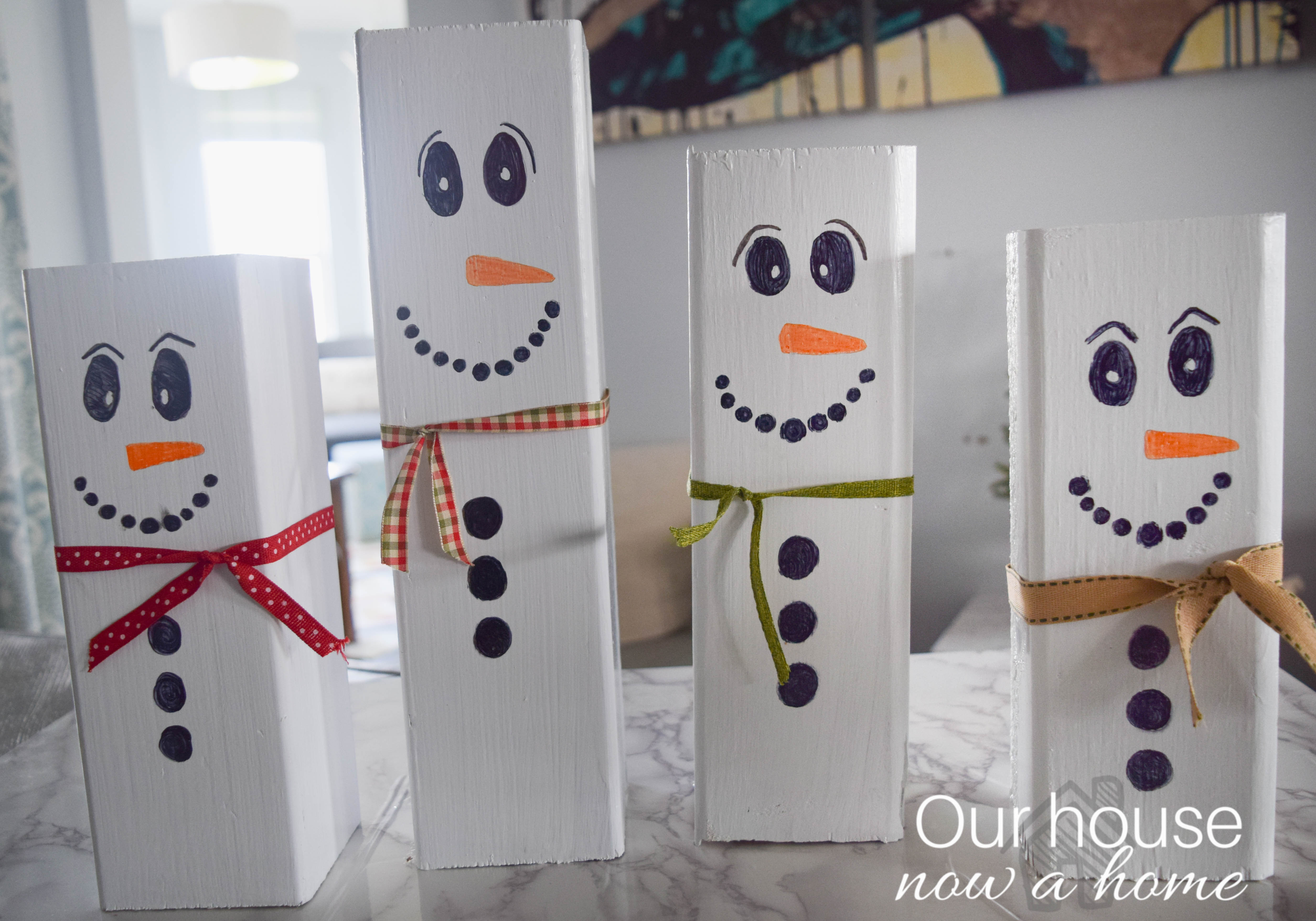 wood snowman craft idea_