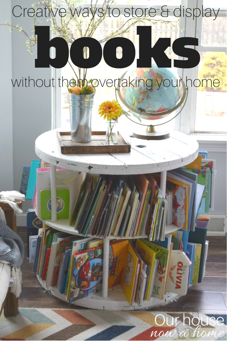 unique ways to store books in your home