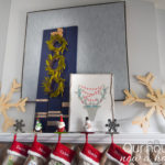 DIY ideas to decorate a Christmas fireplace mantel
