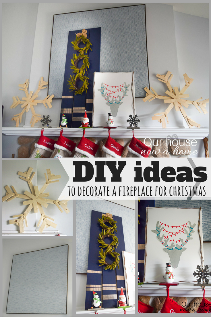 diy ideas to decorate a christmas fireplace mantel u2022 our house now