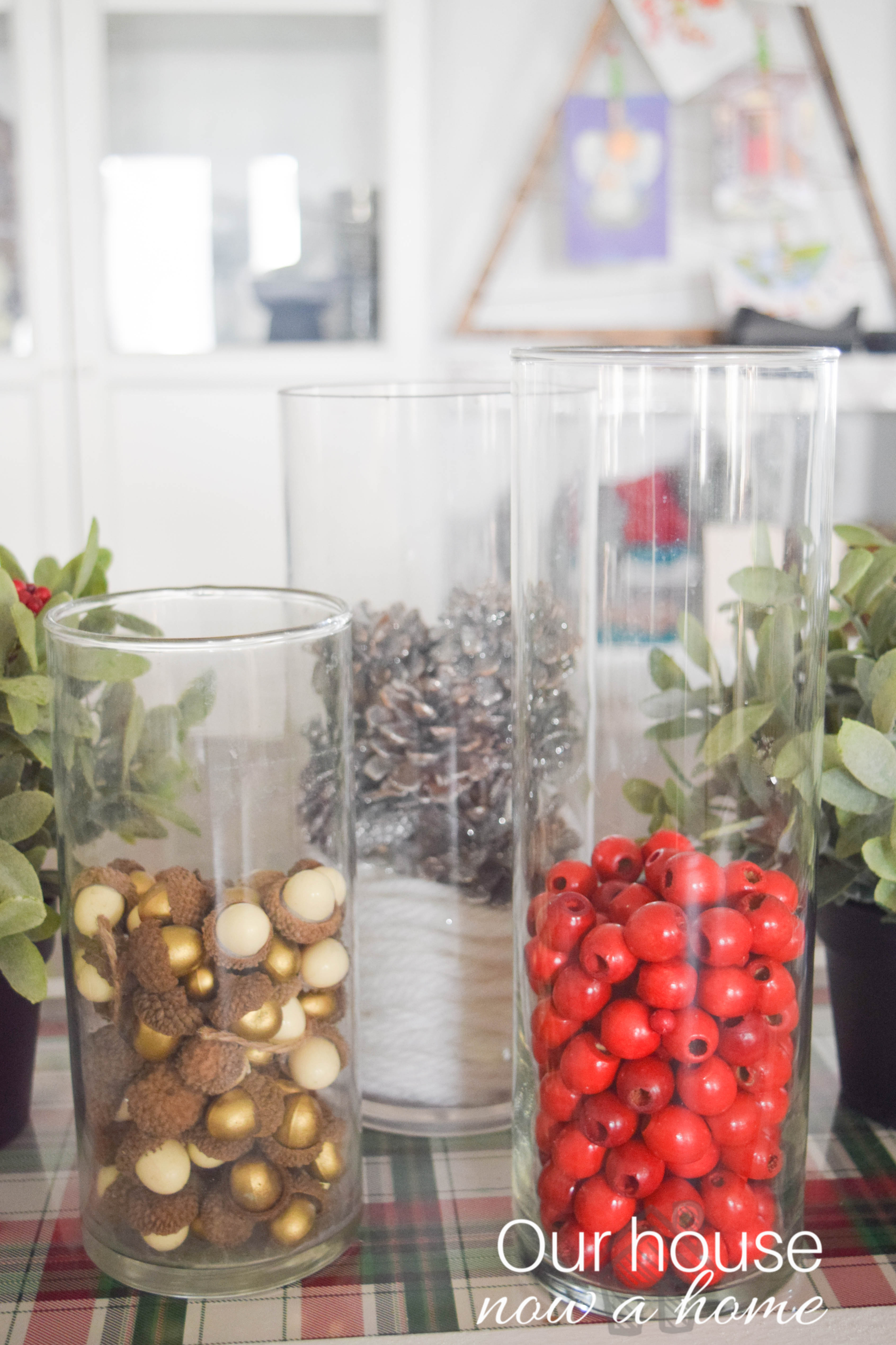 Ideas To Fill Glass Hurricanes For Christmas Decor