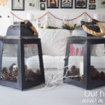 How to decorate with glass hurricanes and lanterns, Christmas edition