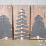 Christmas tree craft, easy decorations for the kitchen without adding clutter