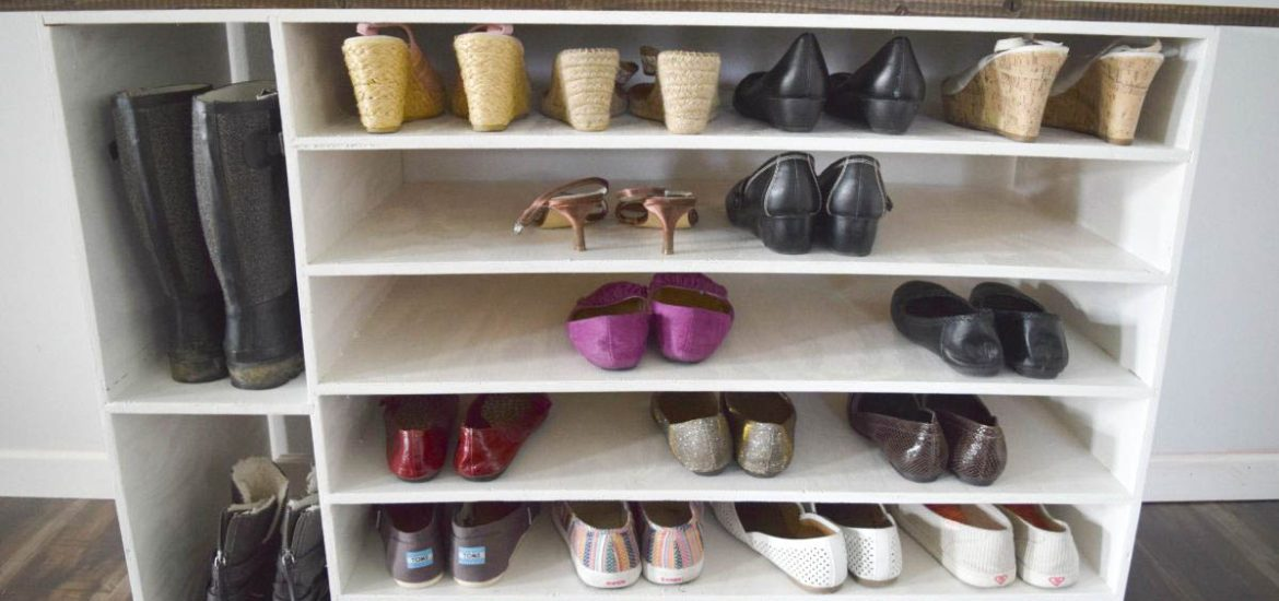 How to make a diy shoe organizer and rack for the closet Diy wardrobe organising ideas