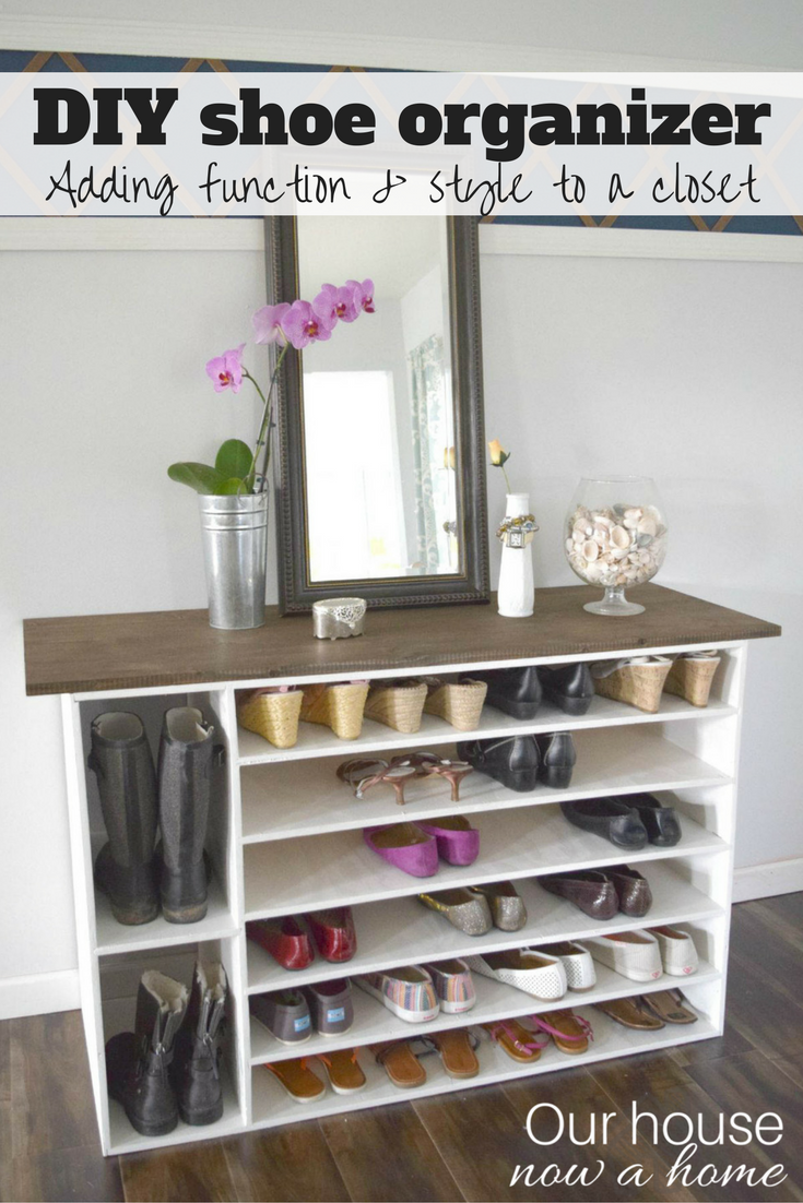 shoe organization rack