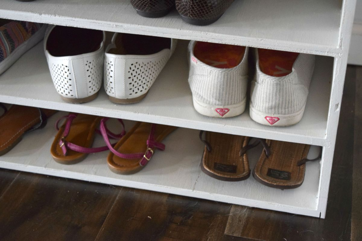 When making your own DIY shoe organizer