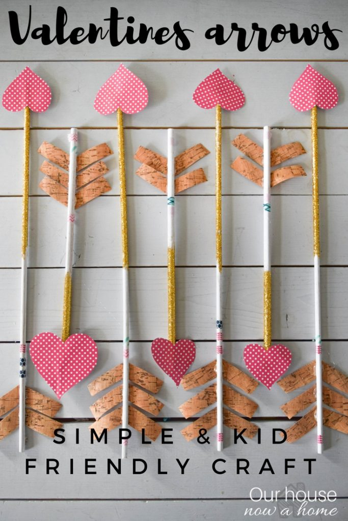 Simple valentines day arrow craft, great for decorations or a gift!