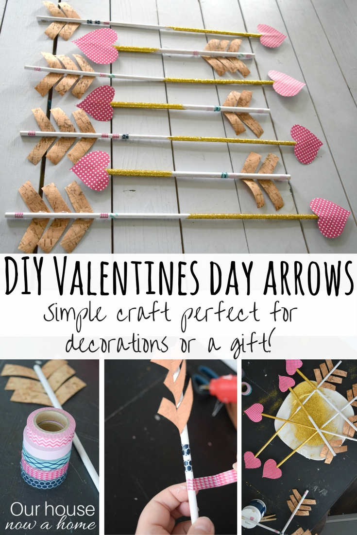 Simple Valentines Day Arrow Craft Our House Now A Home