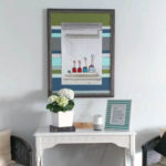 Broken wall art gets a new life with this DIY wood pallet frame