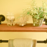 DIY natural wood shelf
