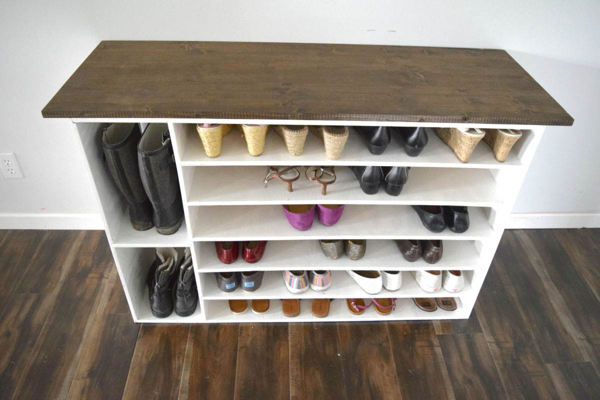 How to make a DIY shoe organizer and rack for the closet ...