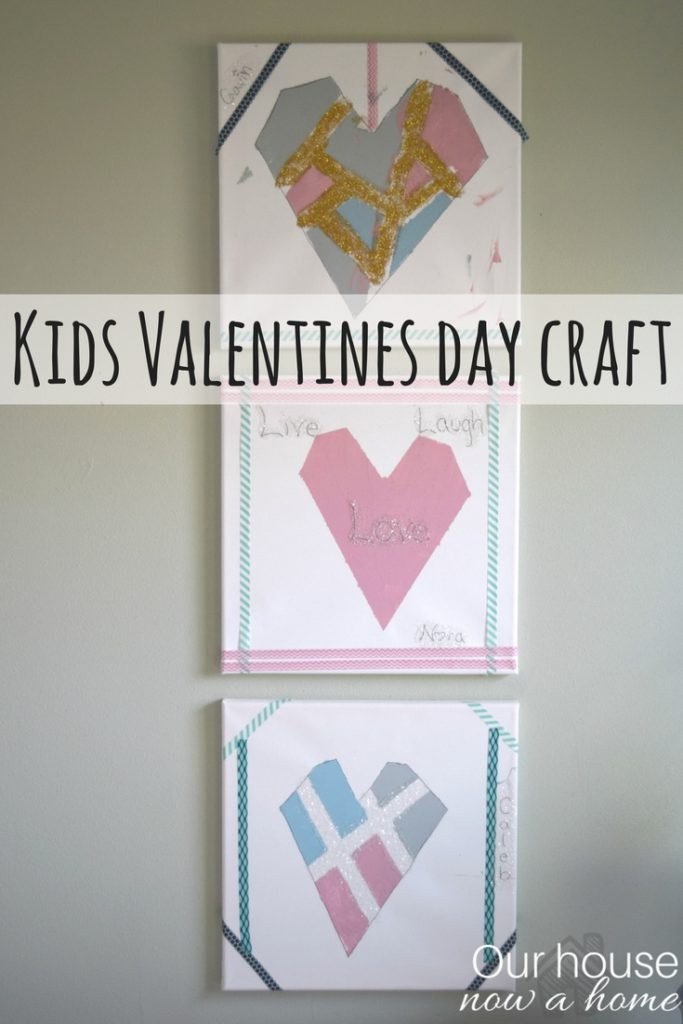 Simple DIY wall art perfect to decorate the home for Valentines day! This kids craft is fun, easy, low cost, and is a special way to celebrate this holiday of love!
