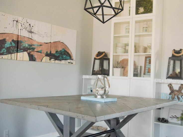 how to make a farmhouse table - an updated and modern flair with a coastal feel!