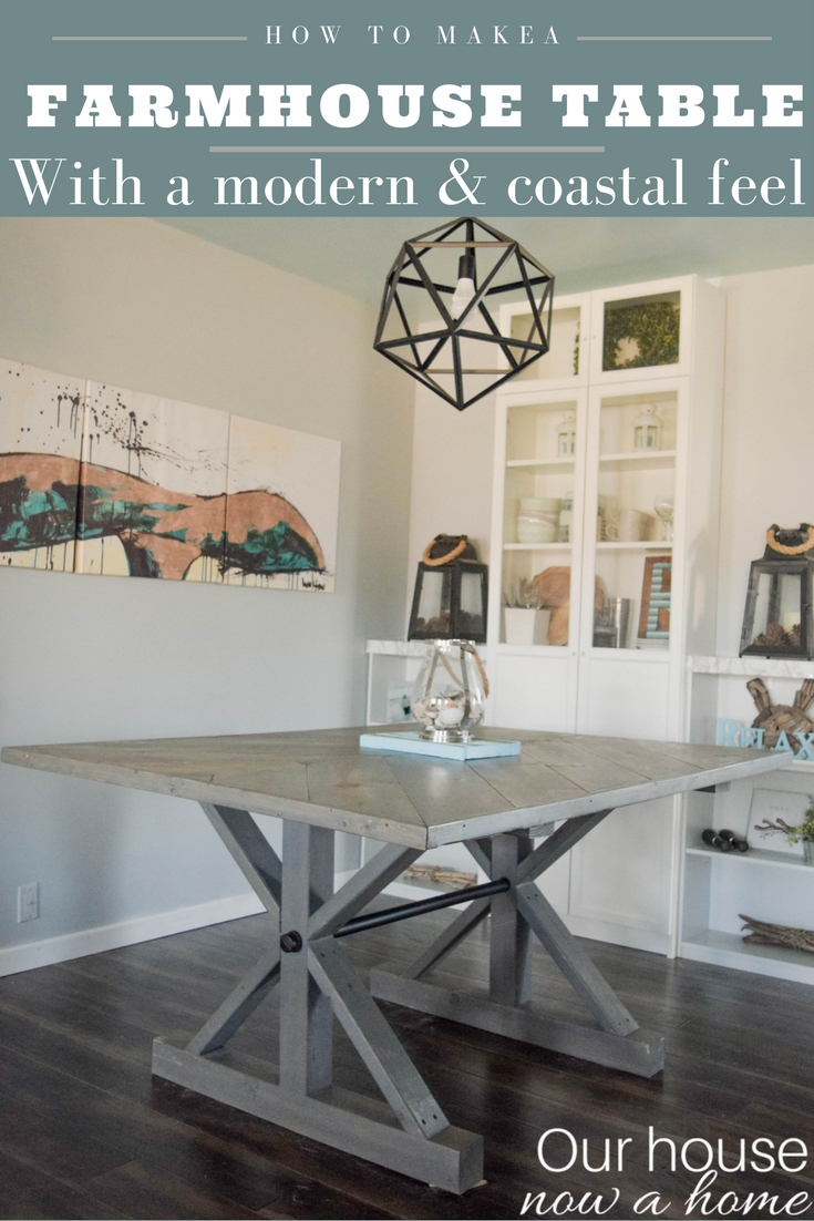 how to make a dining room table - the modern take on the classic