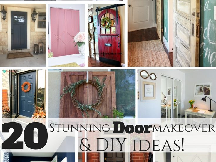 20 stunning door makeover and DIY ideas! How to paint, build, or upcycle doors for the home!