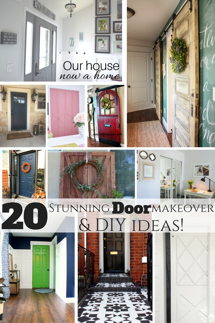 20 stunning door makeover and DIY ideas