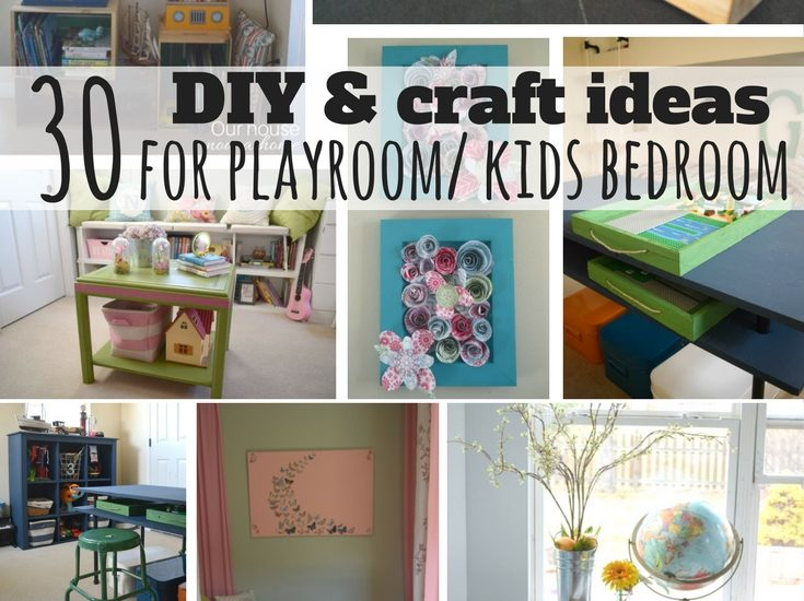 30 diy and craft decorating ideas for a playroom or kid s bedroom