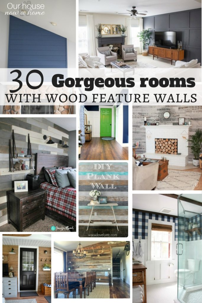 30 gorgeous rooms with a wood feature wall. Different styles, and full of tutorials for these DIY projects!