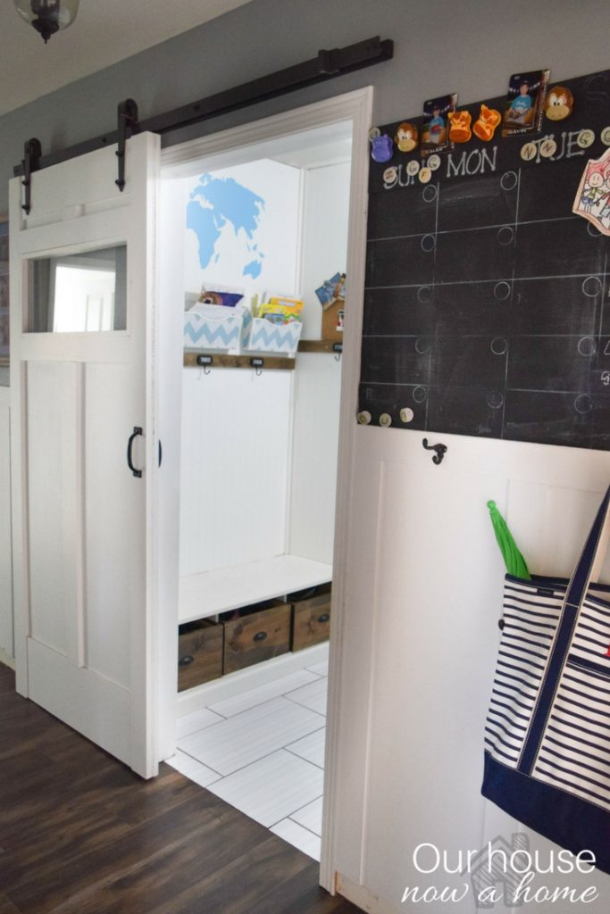 Solutions to a small home, creating a barn door