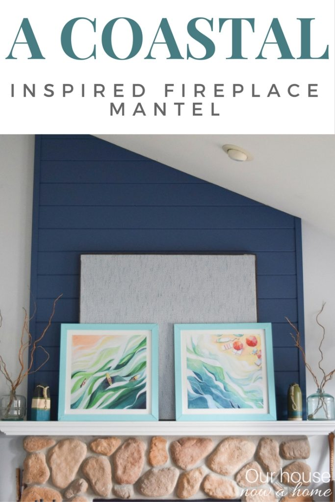 10 different styled fireplace mantels, decorated for spring. Including a coastal style inspired fireplace mantel. DIY projects and simple crafts turn this mantel into a beach decor lovers dream!