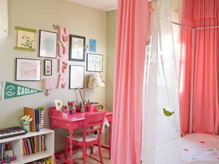 Girl bedroom, with sweet, simple, whimsical, low cost and DIY ideas to create the dream bedroom for a little girl
