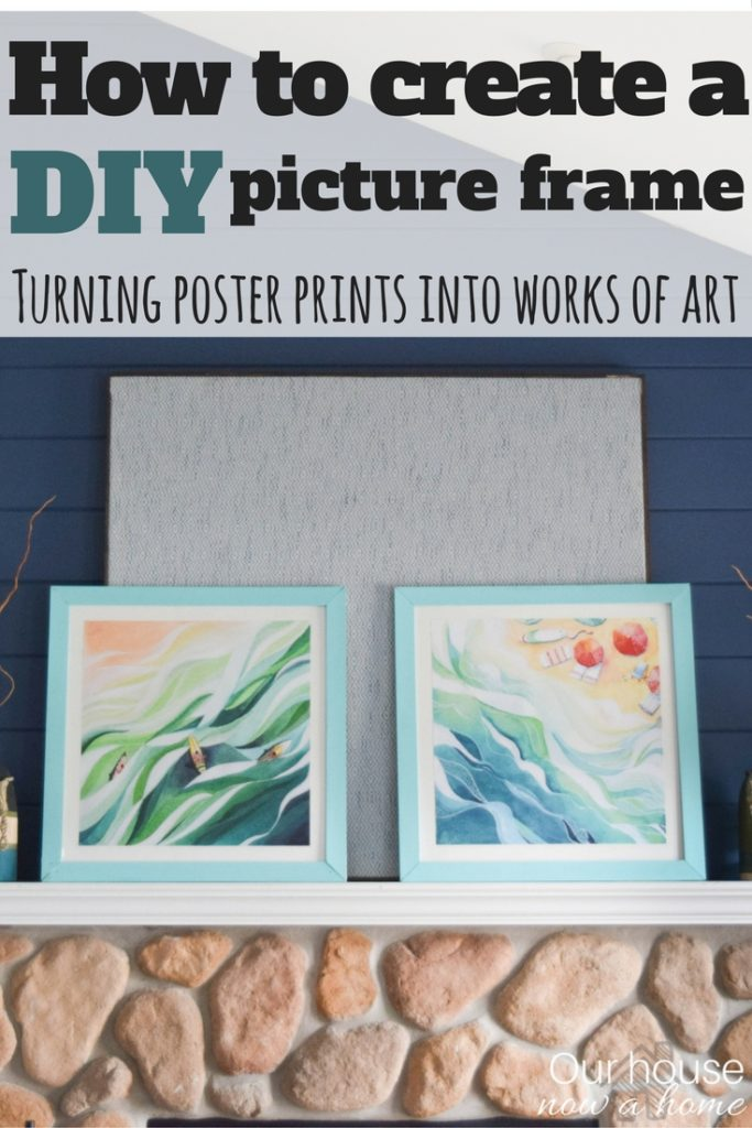 How to create a DIY picture frame - Turning poster prints into works of art. Simple tutorial
