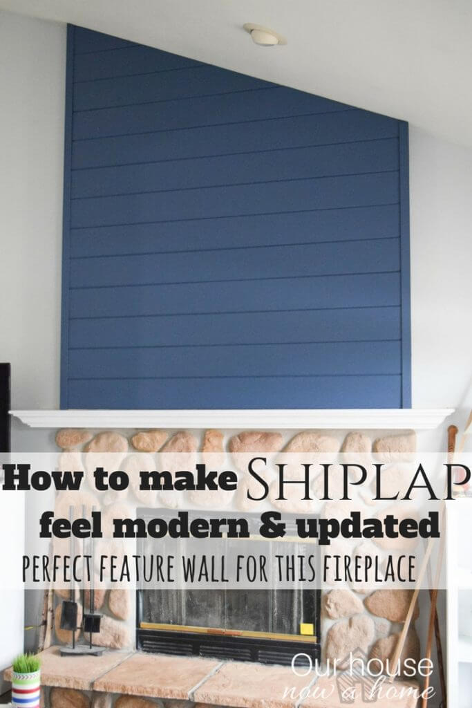 How to create a fireplace wood feature wall - A modern