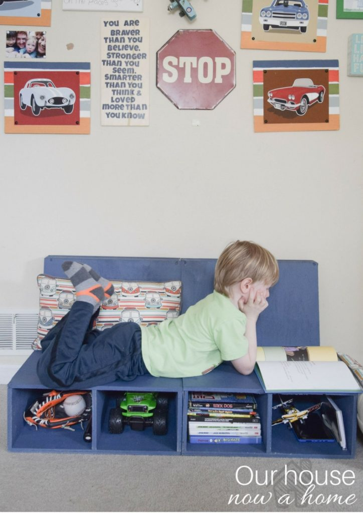 ... three fit comfortably with the chairs pushed together. Also this is one of my favorite pictures of my gaggle of kids always with their head in a book! & Easy steps to make DIY plywood kids chairs with storage u2022 Our House ...
