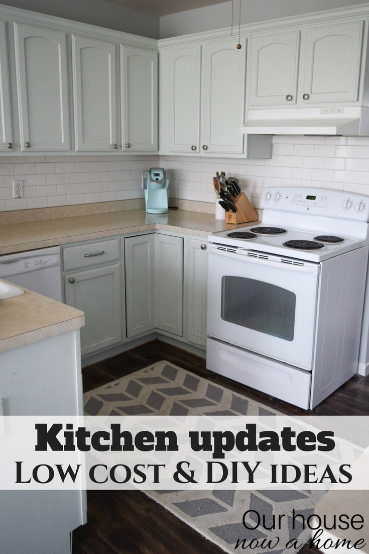 Improve a small kitchen with small updates and diy ideas for Low cost kitchen ideas