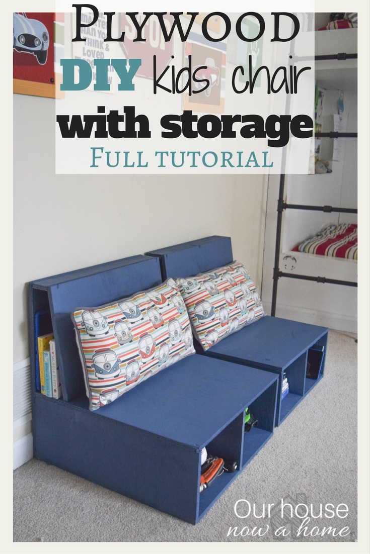 Plywood DIY Kids Chair With Storage. Step By Step Instructions Shared.