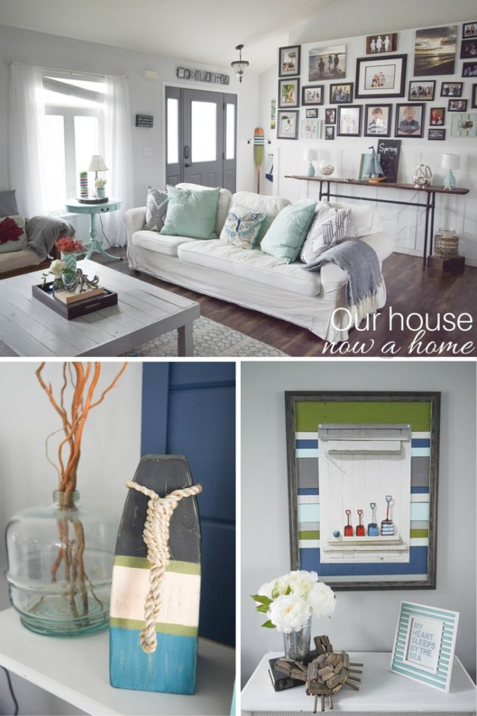 Spring home decor for a coastal style