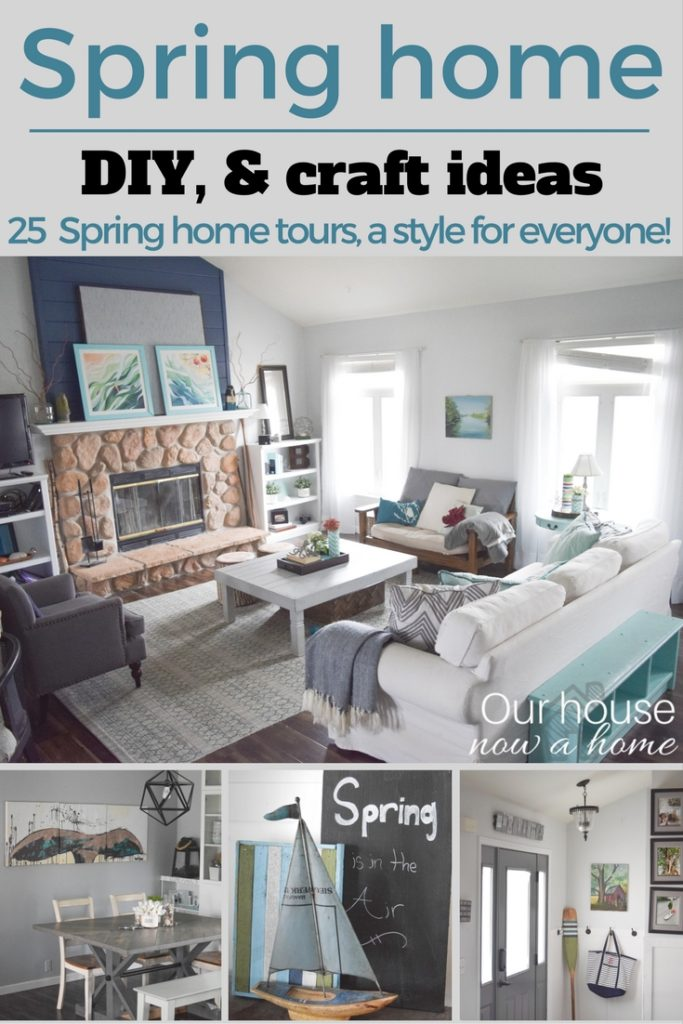 Spring home tour, DIY and craft ideas to decorate a home. 25 Spring home tours from talented bloggers with a decorating style for everyone.