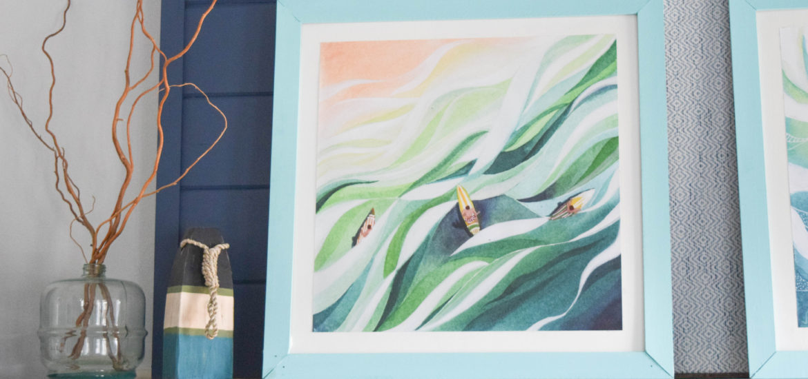 beautiful surf painting