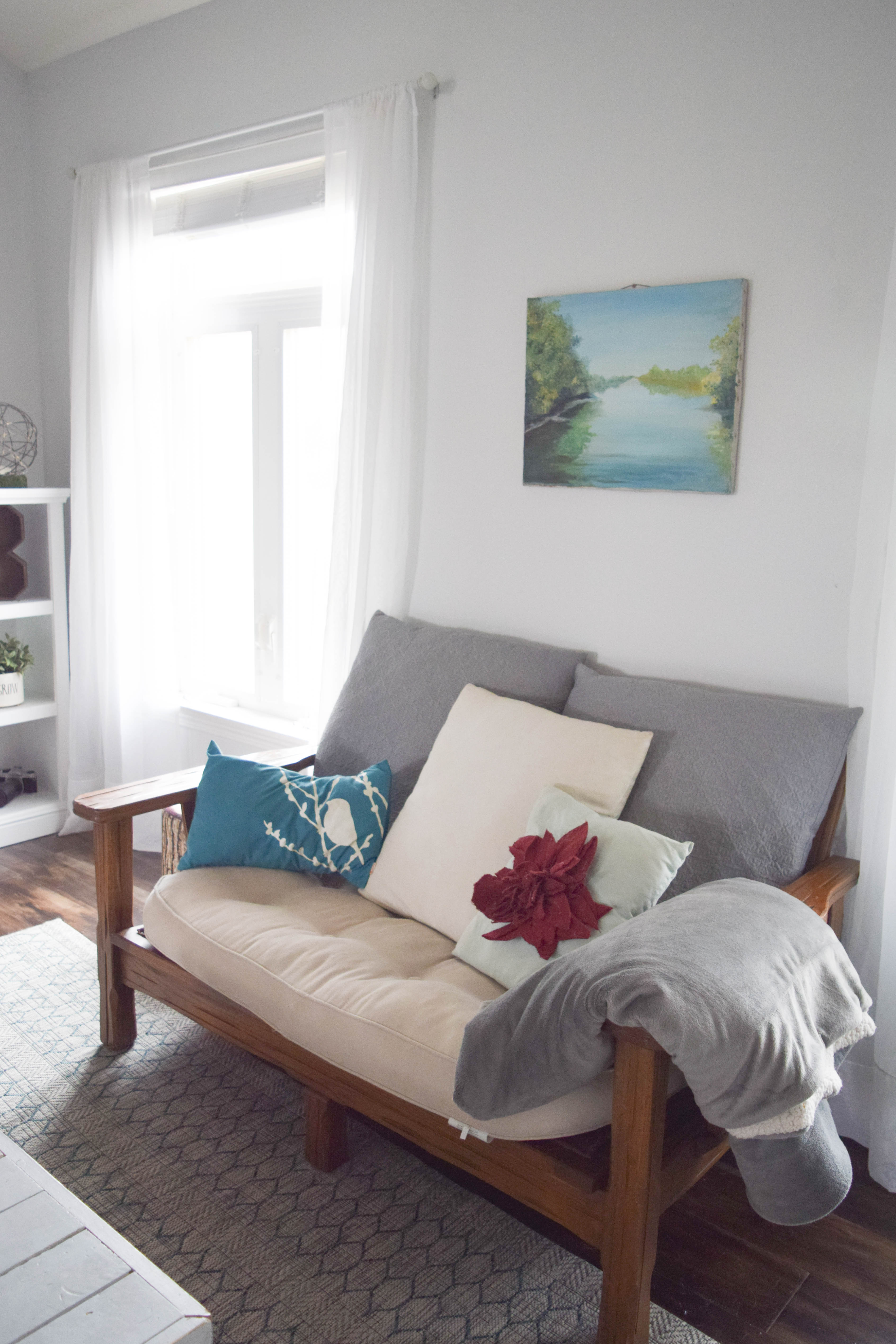 Spring home tour a coastal and bold style our house for Fun living room chairs