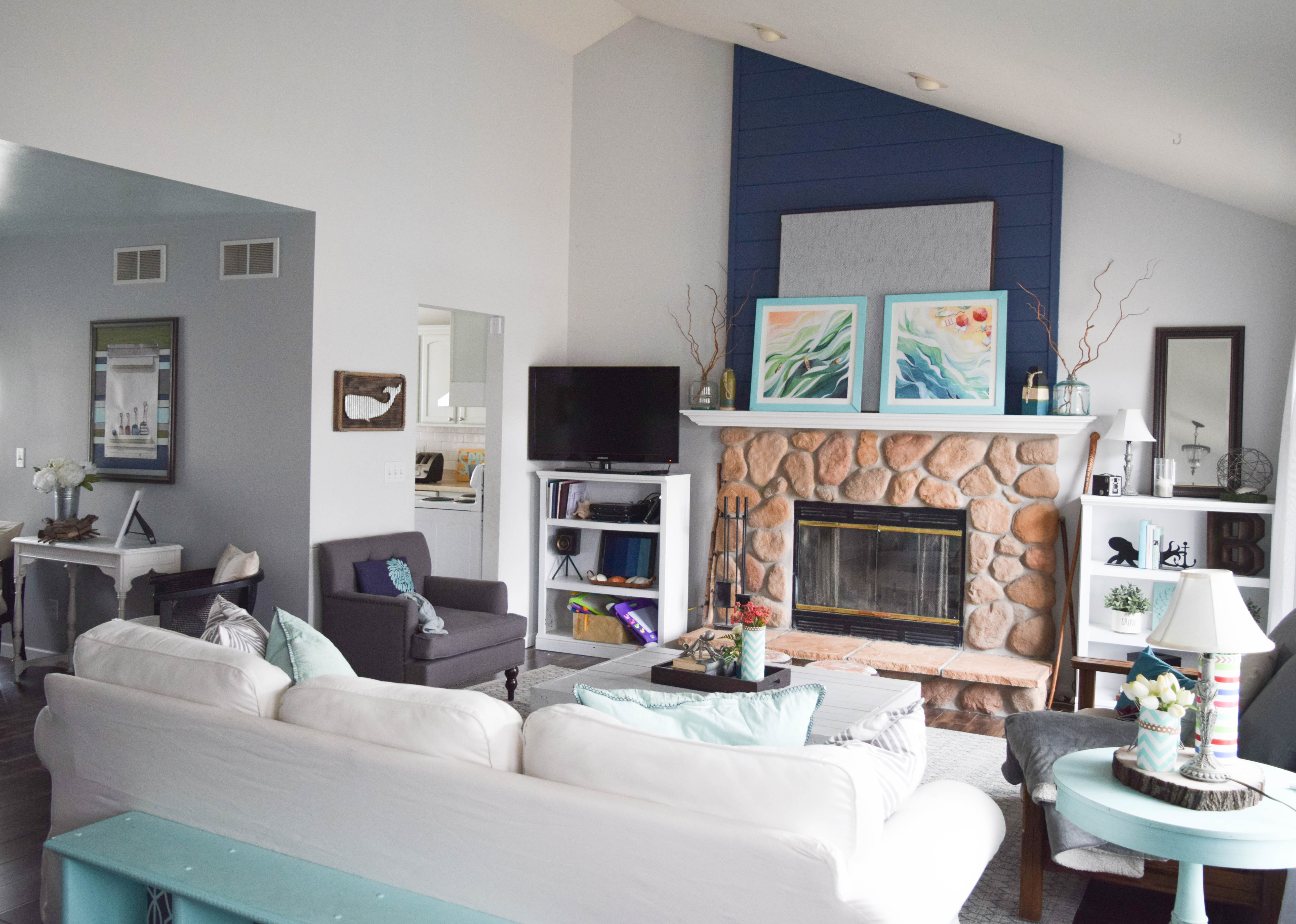coastal style living room Living tour and ideas  Room By series week 3 Our