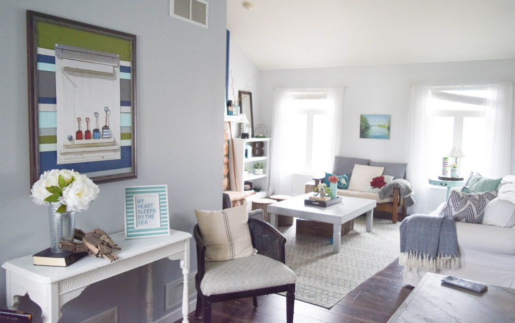decorating for open floorplan home