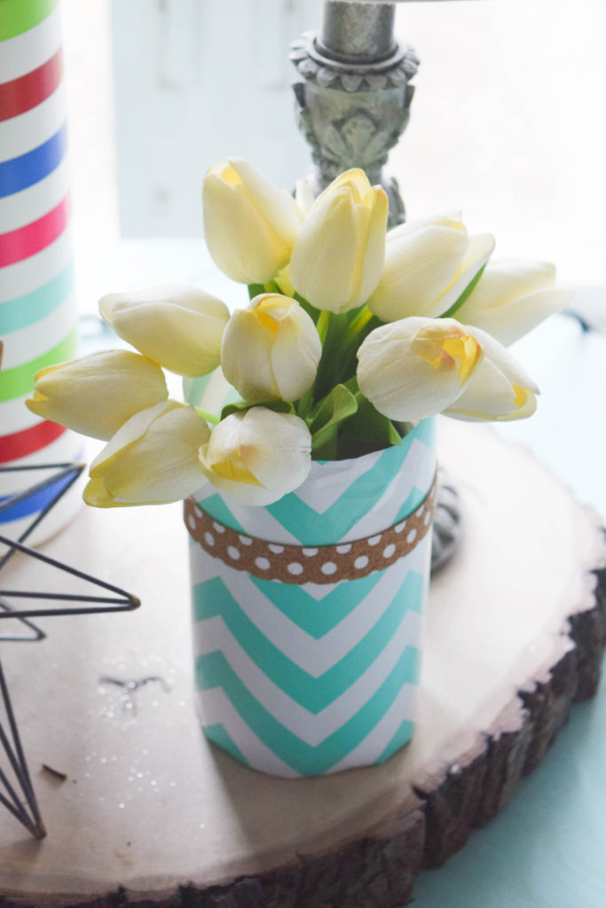 decorating for spring with fake flowers