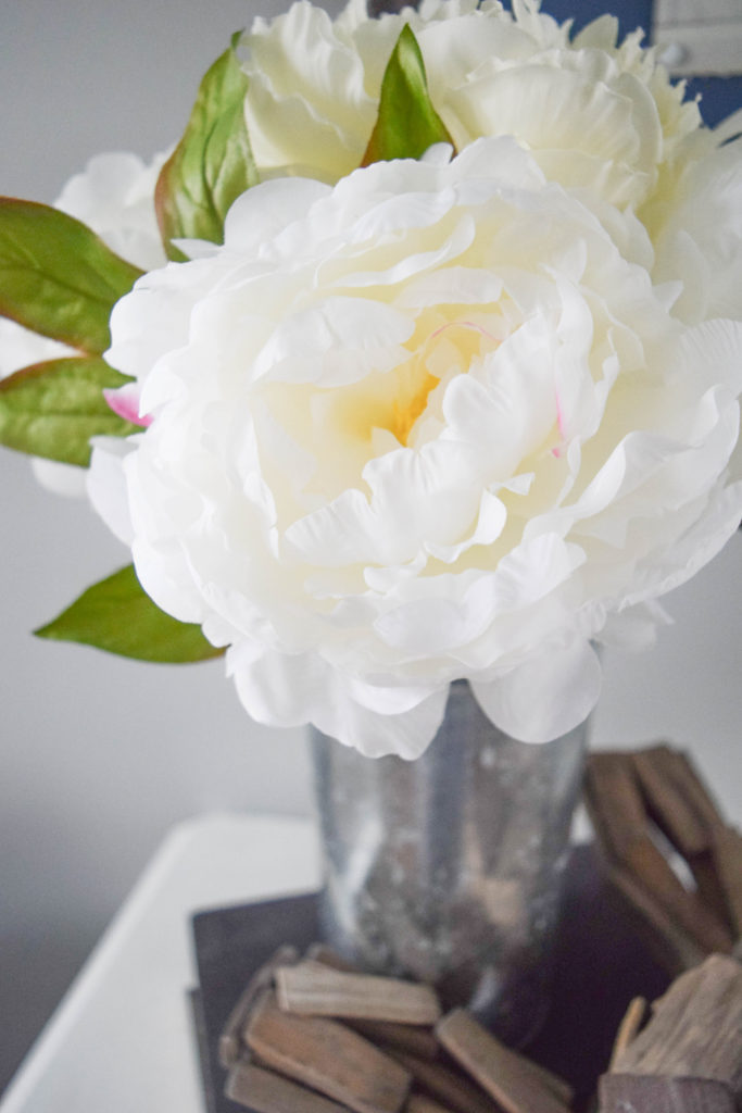 decorating for spring with peonies