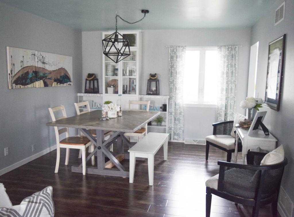 dining room with coastal decor