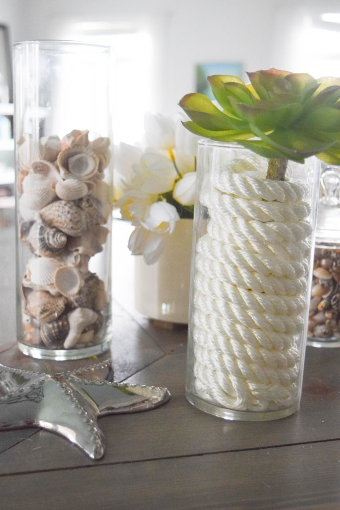 ideas to fill glass vases for home decorating