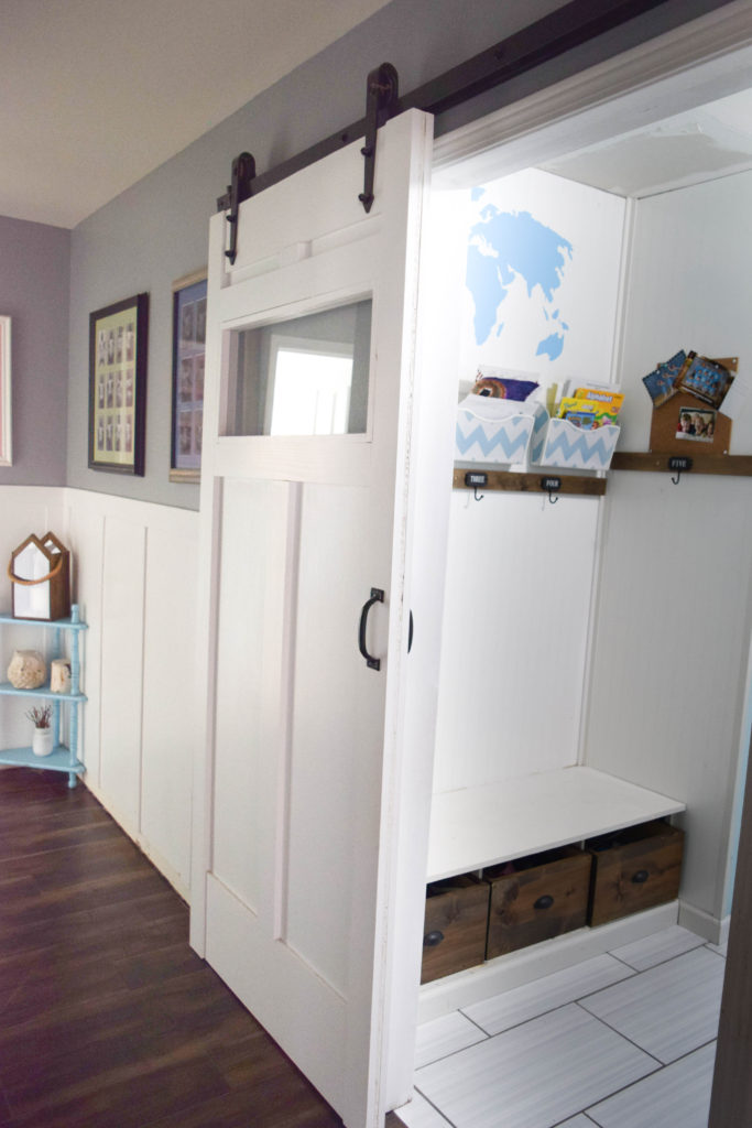 mudroom in hallway