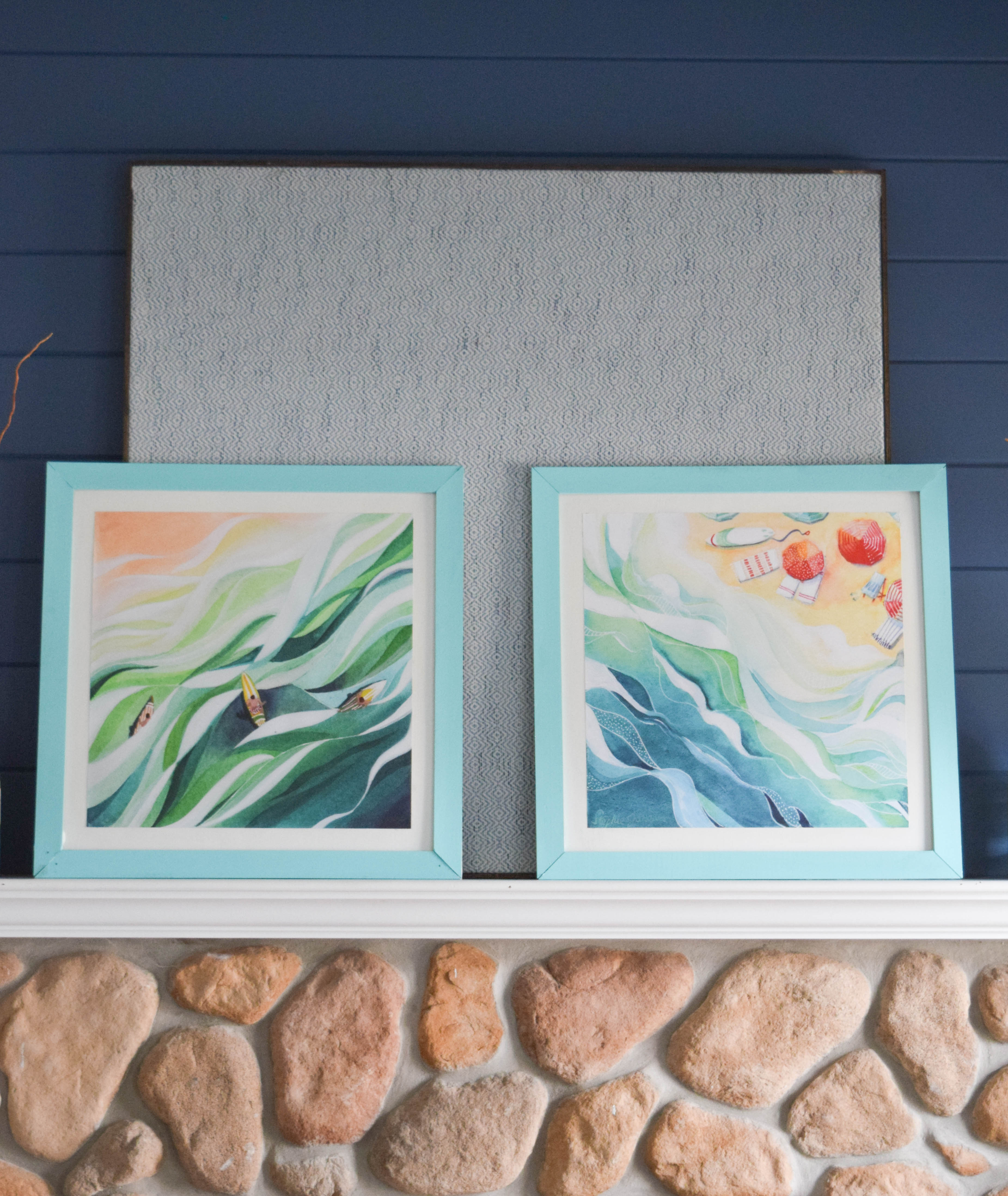 Easiest DIY picture frame - Simple steps to display art • Our House ...