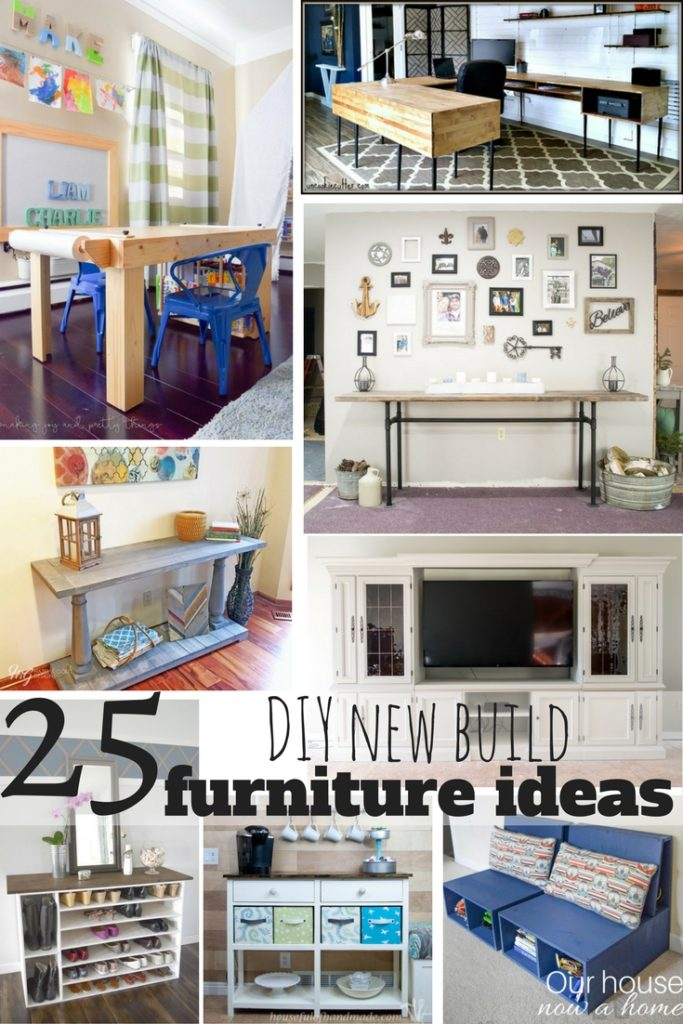 25 DIY new build furniture ideas. Simple tutorial and easy to follow instructions.