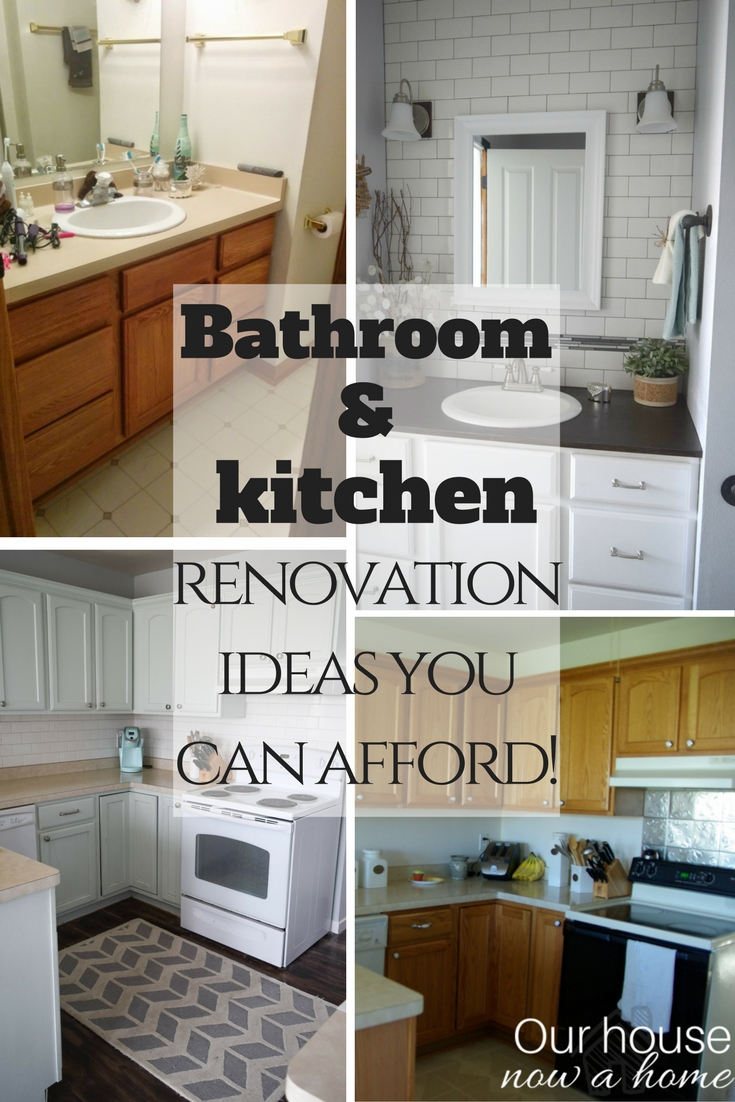 Bathroom and kitchen renovations you can afford simple for Kitchen and bathroom renovations