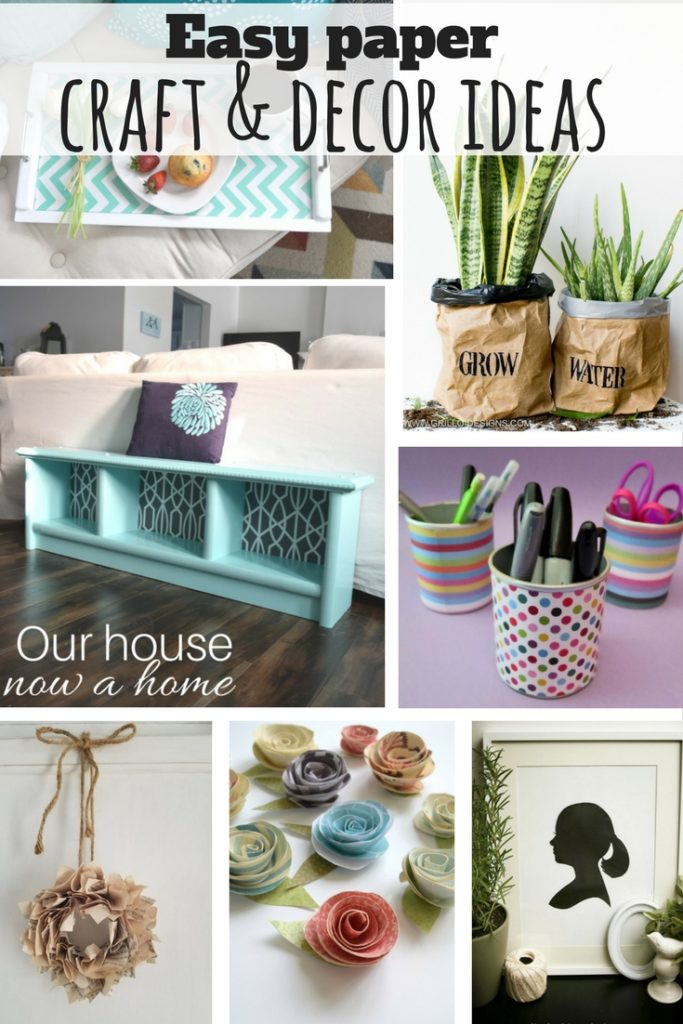 Creative craft and decor ideas using paper our house now Home decor crafts with paper