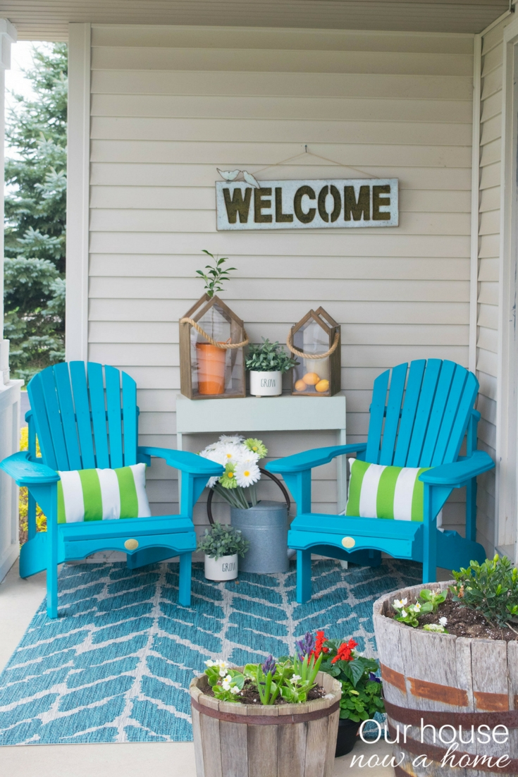 Front porch decorating ideas with the perfect Adirondack ... on Patio Decor Ideas id=83625