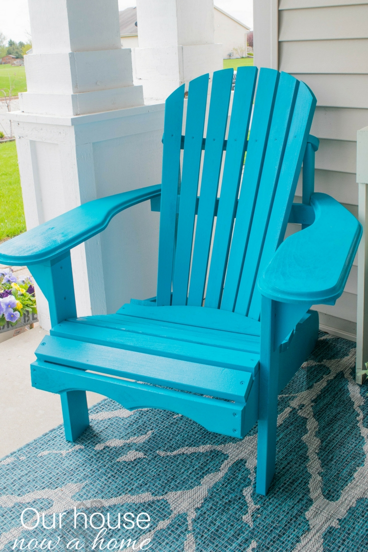Charmant The Perfect DIY Wooden Adirondack Chair. Painted A Bold Turquoise Color, A  Great Addition